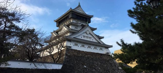Kokura Castle in winter, Kitakyushu