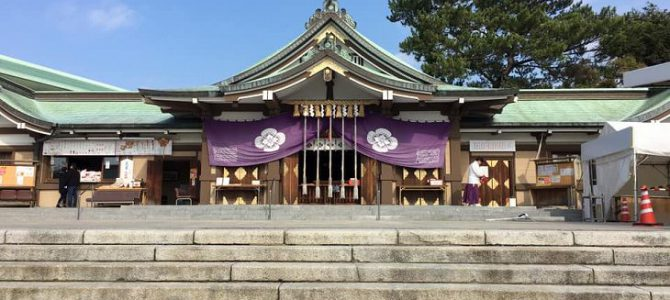 The famous shrine at Shimonoseki.